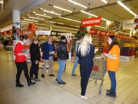 uitleg in Carrefour